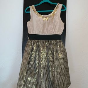 Blush by Us Angels Girls Gold/Black sequin Dress